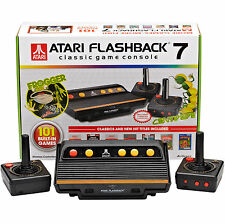 Atari 2600 Flashback 7 Console 2 Wireless Joysticks 101 Games Built-in Near