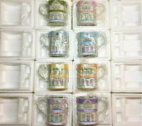 Lenox Porcelain Cafe Coffee Mugs NIN Made In USA Full Set, Vintage Lenox China