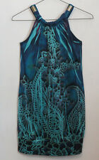 Amy Byer 8 dress Multi-color Sleeveless Deep Blue Green Paisley Shirt / dress