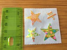 Sandylion VIntage Pearly Christmas Stars Stickers 1 Square
