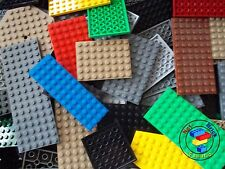 Lego 20 x Base Plates Boards Strips Bases in Mixed Colours ***OVER 800 SOLD***