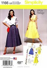 Simplicity Sewing Pattern 1166 Women's 16-24 vintage 1950's Skirt Bra Top Blouse