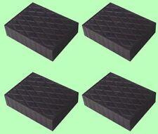 Kit de 4 pièces  bloc de caoutchouc 160x120x30 mm pour Pont elevateur made Italy