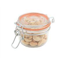 Genware Glass Terrine Jar 125ml 8.1 x 6.5cm Serving Dish Sauce Side Jam Jars x 4