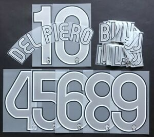 JUVENTUS KIT-LETTERE-NUMERI UFFICIALI AWAY/3RD 2006-2008 KIT-LETTERS-NUMBERS