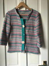 Per Una cardigan top. Medium. Pink and turquoise green.