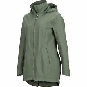 MARMOT LEA hooded waterproof women's rain jacket - Green/Crocodile- LARGE