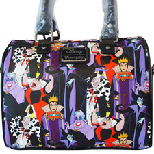 Loungefly DISNEY Villains Maleficent, Evil Queen, Ursula Faux Leather Handbag
