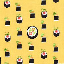 Maki Sushi Bamboo Yellow Michael Miller Fabric FQ or More 100%Cotton