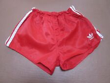 "Fine vintage Adidas shiny red ""Glanz"" nylon shorts, size  D5, 32"""