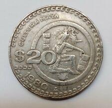 MEXICAN COIN $20 PESOS CULTURA MAYA 1980