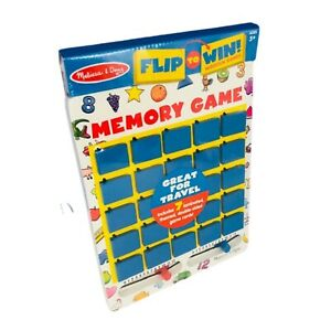 Melissa and Doug Flip to Win Travel Memory Game Wooden Board New/Sealed