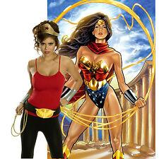 Wonder Woman Costume Accessory Kit Superhero Women Tiara Belt Lasso Gloves Adult