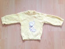 süßer Baby Pullover mit Hase Gr. 74 gelb