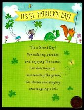 St. Patrick's Squirrel Mouse Turtle Bird - St. Patrick's Day Greeting Card