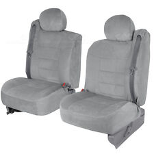 Truck Seat Covers Front Pair Gray Encore Built-in Seat Belts for Chevy Tahoe