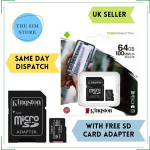 64GB Micro SD memory Card for Samsung Galaxy A01,A11,A20,A20S,A21,A21s,A3,A3Duos