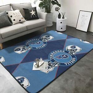 Tennessee Titans Shaggy Area Rugs Anti-Slip Floor Mat Carpet Living Room Bedroom
