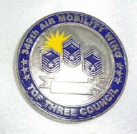 RARE! 349th Air Mobility Wing Top Three Council Enlisted Strength Challenge Coin