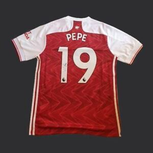 Nicolas Pépé Signed Arsenal 20/21 Shirt