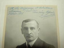 Autographe LANDRIN 1916  Photo A Bert Paris theatre 1916  Music Hall artiste