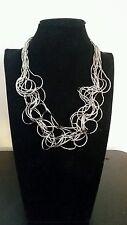 Collana rodiata  stile tiffany Made in italy italian necklace no nickel
