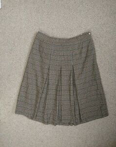 Vintage Gor-ray Pleat Skirt Size 18 Made In UK  pure new wool 10% Cashmere