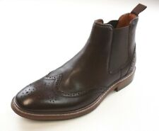NEW MENS FLORSHEIM BROWN LEATHER STREETS WING TIP CHELSEAN BOOT SIZE 7.5