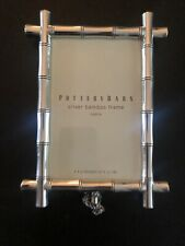 Pottery Barn Bamboo Photo Picture Frame Silver 4 X 6