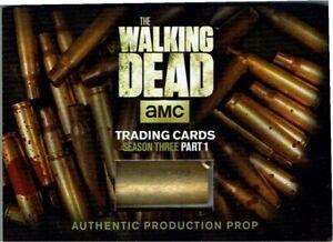 The Walking Dead Season 3 Part 1 Wardrobe Card SC-01 Prison Assault Shell Casing