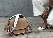 Blogger FAV! ZARA Tan Round Contrasto Cinghia CrossBody Messenger Bag. ESAURITO!
