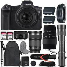 Canon EOS R Mirrorless Camera w/4 lens Kit + Premium Accessory Bundle