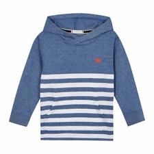 J by Jasper Conran Boys Stripe Print Hooded Top Hoodie 12-18 Months Blue