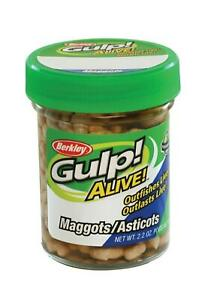 Berkley Gulp Alive Maggots White~2.2 oz jar~FREE Shipping