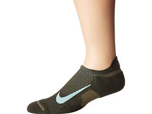 Nike Green Elite Merino Cushioned No Show Running Socks Unisex Size L 17725