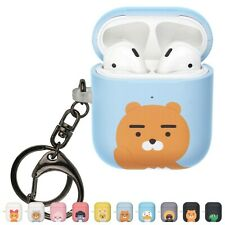 Kakao Friends AirPods Case with Keychain Key Ring Hard PC Shell Strap Hole Cover