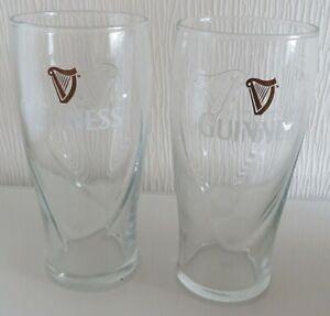 Bierglas Guinness 0,5L - 2 Stück EST D 1759 Harfe Pint 0,5l, Harfe ReliefSchliff