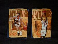1997-98 Kansas Jayhawks Men's Basketball Schedules - Lot of 2