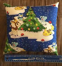 "Beautiful Handmade Christmas Pokémon Accent - Throw Pillow 10"" x 10"""