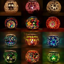 200 + SOLD Turkish Moroccan Glass Mosaic Candle Holder Gift Home Decoration