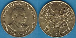 Kenya 1991 10 cents KM-18 Nickel brass BUNC - US Seller