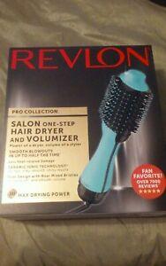 Revlon PRO Collection Salon One Step Hair Dryer&Volumizer Brush Teal- Store RTN