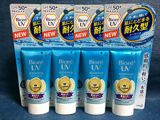 4 x NEW DESIGN Kao Biore UV SPF50+ AQUA Rich Sunscreen Cream - Made In Japan