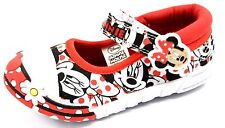 Minnie Mouse ORLEANS White & Red Canvas Bar Pump/Shoe sizes 4,5,6,7,8,9,10