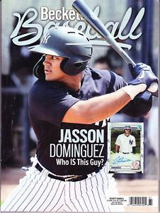 BECKETT BASEBALL PRICE GUIDE August 2020 Jasson Dominguez NY Yankees Prospect