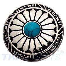 Concho #100 30mm Wild Hearts Concha Silber Stein Blau Conchos Conchas