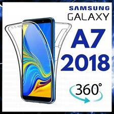 COVER 360° Per SAMSUNG GALAXY A7 2018 Custodia Fronte Retro TRASPARENTE TPU A 7