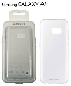 Genuine Original Samsung Galaxy A3 2017 Phone Case Transparent Clear Cover - NEW