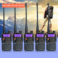 5XBaoFeng UV-5RE Plus Two way Ham Radio Walkie Talkie UHF VHF Dual Band Portable