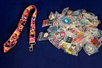 Disney World Pin Trading Lot Lanyard Starter Minnie Mickey Mouse Pink & 25 Pins